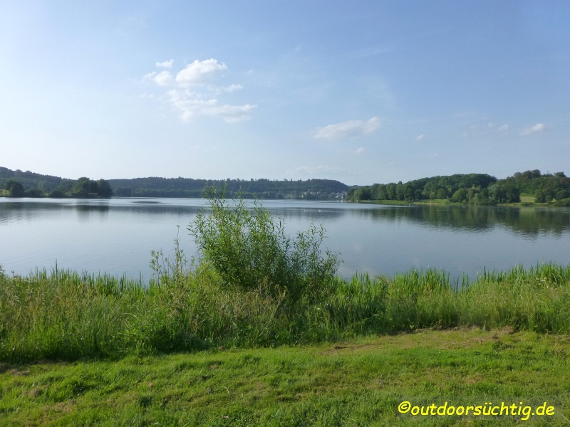 Der See vom Südufer (Hotel) aus