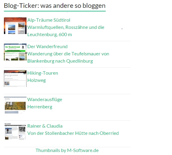 Was andere so bloggen