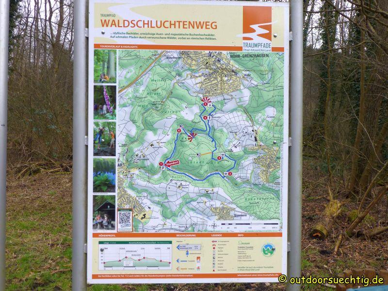 Die Streckenführung - wir haben allerdings oben in Höhr-Grenzhausen begonnen