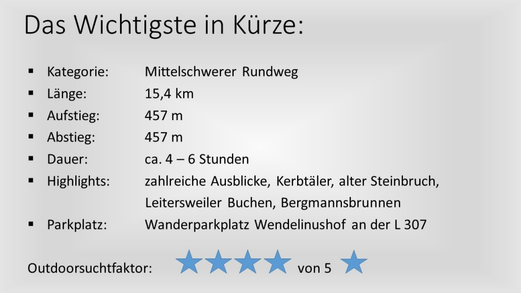 Das Wichtigste in Kürze - Tiefenbachpfad