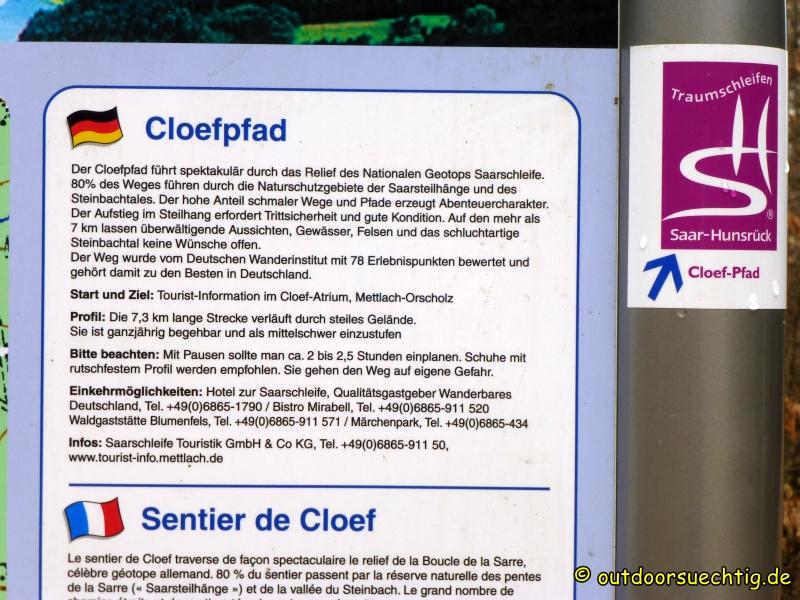Den wollten wir eigentlich erwandern: der Cloefpfad